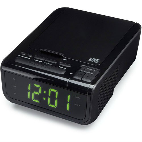 ONN CD Clock Radio with USB Device Charging Station
