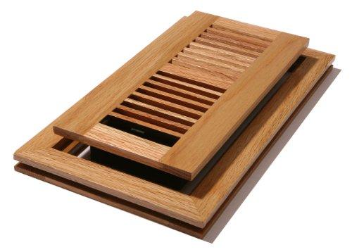 Decor Grates WLF410-N 4-Inch by 10-Inch Wood Flushmount Floor Register, Natural Oak ()