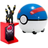 TOMY Pokemon Catch 'N Return Pokeball Umbreon Action Figure and Great Ball