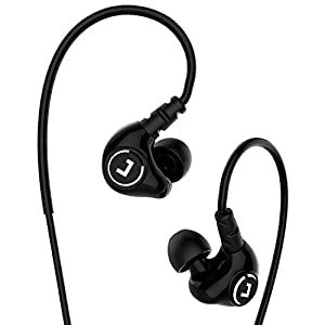 Jayfi JET-830 High Definition Noise Isolating In-Ear Headphones Stereo Earbuds Heavy Bass Earphones with Memory Wire Mic