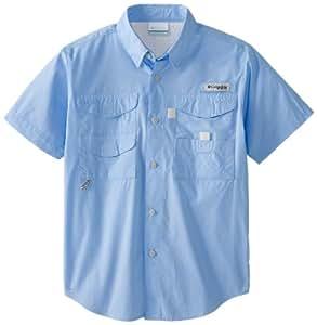 Columbia Boy's Bonehead Short Sleeve Shirt (Youth), White Cap, XX-Small