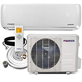 PIONEER Air Conditioner Pioneer Mini Split Minisplit Heatpump 9000 BTU-110/120 V 1 <p>Ultra high efficiency inverter+ ductless mini split heat pump system Cooling capacity: 9, 000 BTU/H with 17.0 SEER efficiency Heating capacity: 9, 500 BTU/H with 9.0 hspf efficiency Voltage: 110~120 VAC, 60 hertz (standard household power, l-n-g) Please see the active links on this page for full specks, manuals, etc</p>