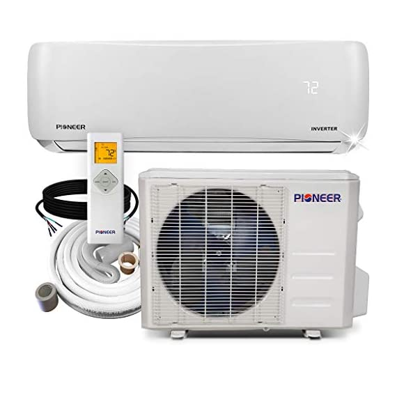 PIONEER Air Conditioner Inverter+ Ductless Wall Mount Mini Split System Air Conditioner & Heat Pump Full Set 1 Ultra high efficiency inverter+ ductless mini split heat pump system Cooling capacity: 9, 000 BTU/H with 17.0 SEER efficiency Heating capacity: 9, 500 BTU/H with 9.0 hspf efficiency