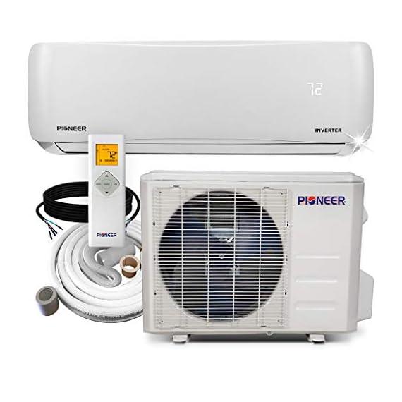 PIONEER Air Conditioner Pioneer Mini Split Minisplit Heatpump 9000 BTU-110/120 V 1 <p>Ultra high efficiency inverter+ ductless mini split heat pump system Cooling capacity: 9, 000 BTU/H with 17.0 SEER efficiency Heating capacity: 9, 500 BTU/H with 9.0 hspf efficiency Voltage: 110~120 VAC, 60 hertz (standard household power, l-n-g) Please see the active links on this page for full specks, manuals, etc</p>