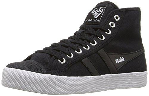 Gola Women's Coaster High Fashion Sneaker, Black/Black/White, 6 M US