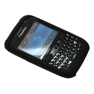 Black Silicone Soft Skin Case Cover for Blackberry Curve 8900