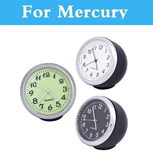 Fastener & Clip Car Mechanics Quartz Clock Mini Noctilucent Watch Digital Pointer Car Clock for Mercury Marquis Mariner Milan Montego Grand - (Color Name: Black)
