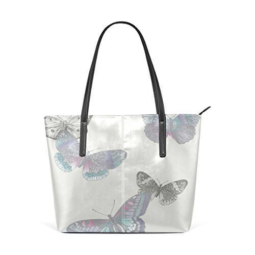 TIZORAX Handle Totes Women's Fashion Purses Leather Butterfly Shoulder Handbag PU Top Bags SUraqSwOx