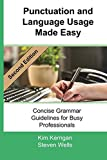 img - for Punctuation and Language Usage Made Easy: Concise Grammar Guidelines for the Concise Professional book / textbook / text book
