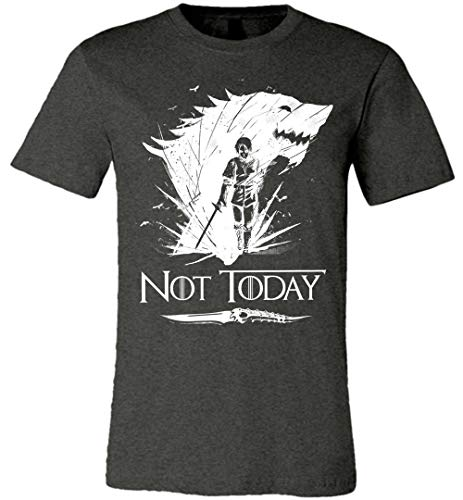 Cool Not Today Game of Thrones GOT Canvas Unisex T-Shirt for Women Men Fans Gift Dark Grey Heather