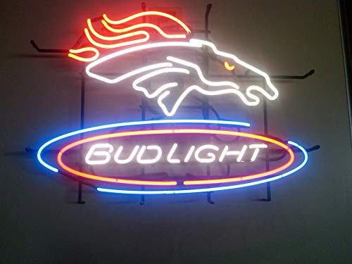"Desung New 20""x16"" Denver Sports Team Bronco Bud-Light Neon Sign (Multiple Sizes Available) Man Cave Bar Pub Beer Handmade Neon Light FX97"