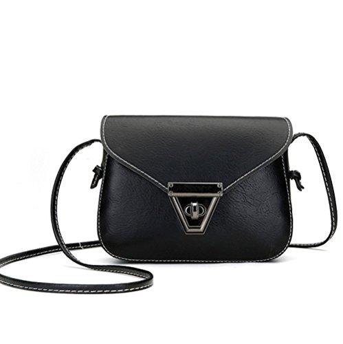 Crossbody Wallet Mini Shoulder Pouch Leather Purse YaJaMa Cellphone Satchel Sling Black Bag Uwtqvvd