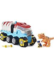 PAW Patrol, Dino Rescue Dino Patroller Motorized Team Vehicle with Exclusive Chase and T. Rex Figures