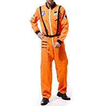 Dovewill Adult Space Man Astronaut Costume Jumpsuit One Size