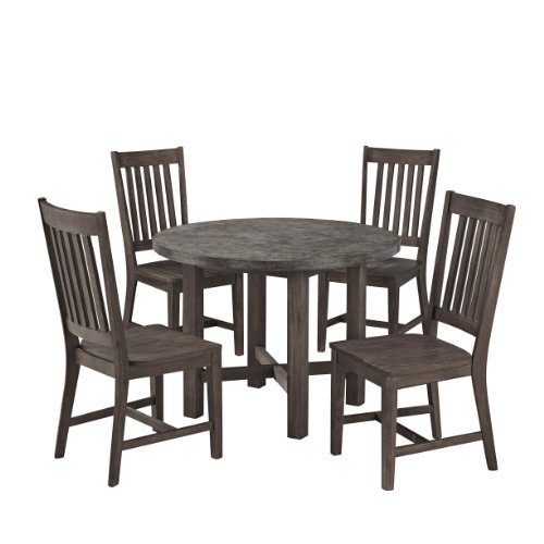 Home Styles Concrete Chic 5 PC Dining Set Brown & Gray