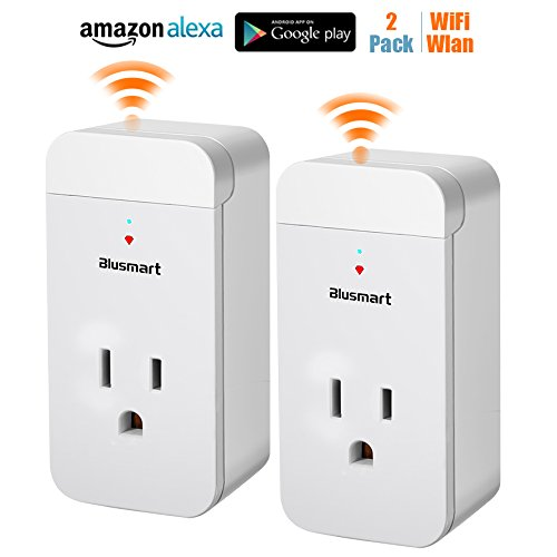 WiFi Smart Plug 2 Pack Smart Wifi Socket Outlet wireless Compatible with Amazon Alexa Echo and Google Assistant Timing Function Remote Control Your Electric Devices Anywhere No Hub Required