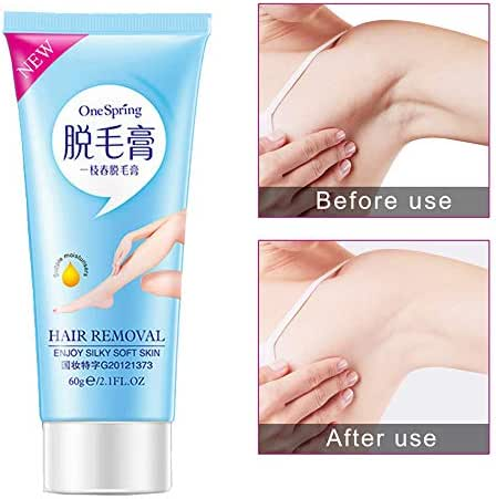 Iusun Hair Removal Cream Whitening Intimate Unisex Depilatory Ginseng Painless Flawless Fast for Body Underarms Arm Legs Knees Bikini Area Soft Skin Care Long Last Smoothness (A)