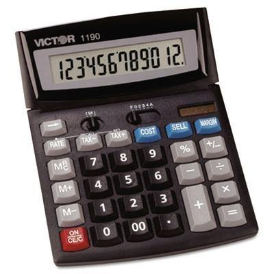 Victor - 1190 Executive Desktop Calculator 12-Digit Lcd