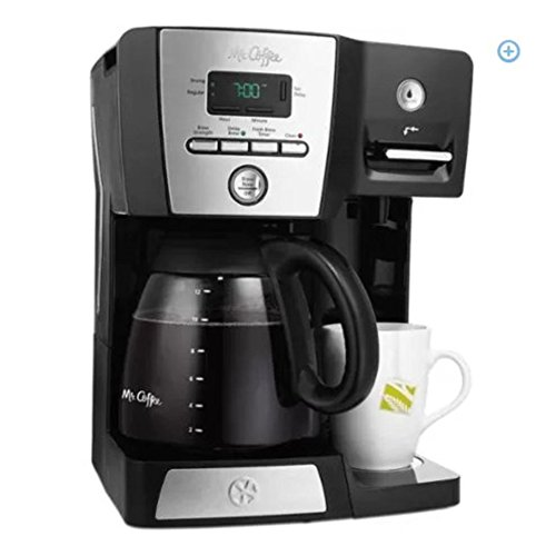 Mr. Coffee 12-Cup Programmable Coffee Maker and Hot Water Station, Black