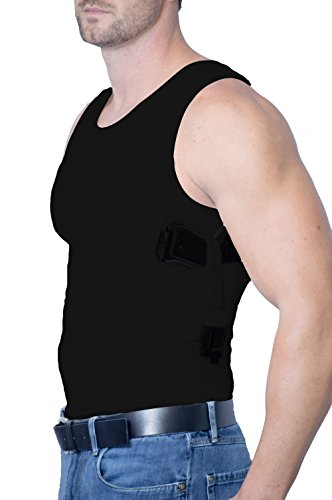AC UNDERCOVER Men's Concealed Tank Top Shirt Tactical CCW Gun Holster (Black, Medium)
