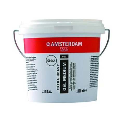 Royal Talens Amsterdam X-Heavy Gel Medium, 1 Liter Tub, Glossy (24192021) by Amsterdam