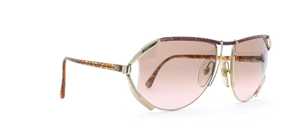 561cf02e381b Amazon.com  Christian Dior 2609 48 Gold and Red and Pink Authentic Women  Vintage Sunglasses  Clothing