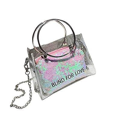 Amazon.com: New Arrival Messenger Bags Laser Transparent Jelly Bag Women Handbag Tote Bags Lady Portable Shoulder Bags bolsos mujer T Color Pink mini: Shoes