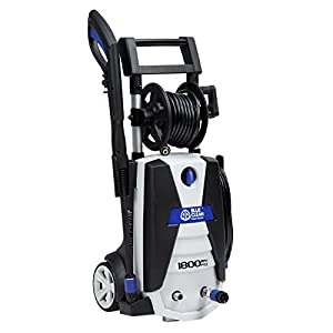 AR Blue Clean AR383S 1,800 PSI Electric Pressure Washer, Spray Gun, 2 Different Wands, Detergent Tank & Hose