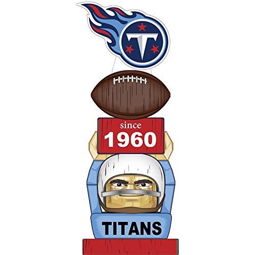 (Team Sports America Tennessee Titans Vintage NFL Tiki Totem Statue )