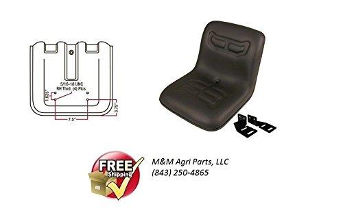 COMPACT TRACTOR FLIP SEAT W/ BRACKETS KUBOTA YANMAR FORD SATOH MASSEY - Tractor Compact Kubota