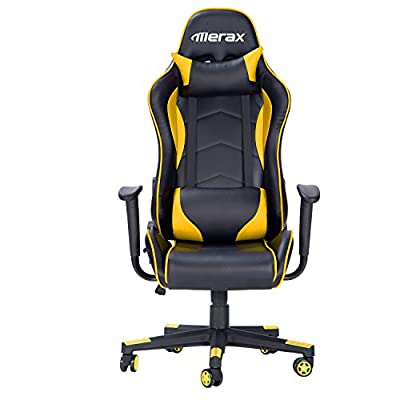 Merax Racing Gaming Style High Back PU Leather Metal Frame Swivel Office Chair from Merax