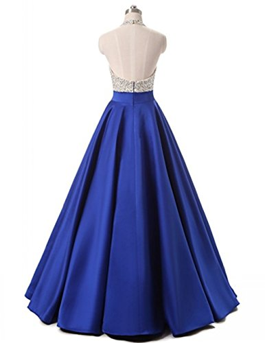 Sequin Aline Dress Prom Halter Annies Beaded Dress Ball Bridal A3 Evening Womens Gown qzXwqCa
