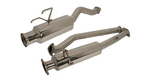 Injen (SES1330) Cat-Back Exhaust System with Injen Embossed Dual Muffler and Resonated/Rolled Tip, Stainless Steel