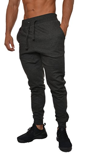 Revolution Jogger - YoungLA Mens Slim Fit Joggers Fitness Activewear Sports Fleece Sweatpants For Gym Training Charcoal Medium