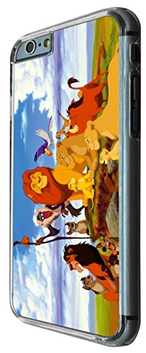 iphone 6 plus 5.5'' Cool Cartoon Simba The Lion King Design CASE BACK Cover-Clear Frame