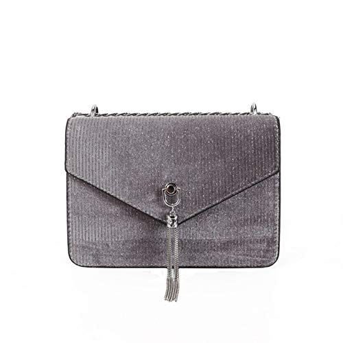 donna Square a Borsa Velvet Simple Wild Fashion Borsa Small Tassel Hxkb a1 tracolla Retro gUIn7