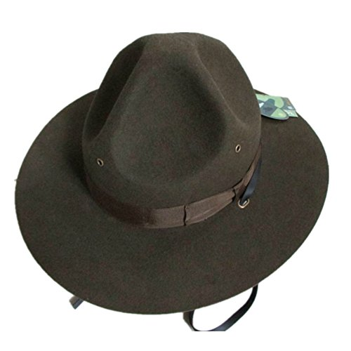 Wool Felt US Army Marines USMC Military Drill Instructor's Hat (XL= 61cm (7 5/8) ) (Hat Mountie Hat)