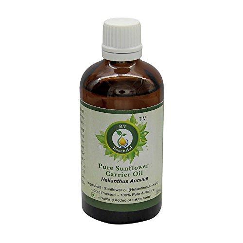 R V Essential Puro 30ml girasol del aceite del portador (1.01 oz)- Helianthus annuus (100% pura y fría natural prensada)...