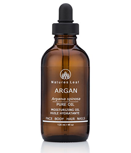 - Natures Leaf Virgin Organic Moroccan Gold Argan Oil 100% Pure/Cold Pressed/Fair Trade/Unrefined / Anti-Aging/Split Ends/Frizzy's/Stretch Marks/Nails / Dry Scalp/Non-Irritating