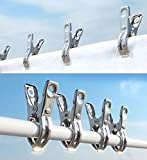 FOMMEN Clothes Pins 32 Pcs Metal Beach Chair Towel