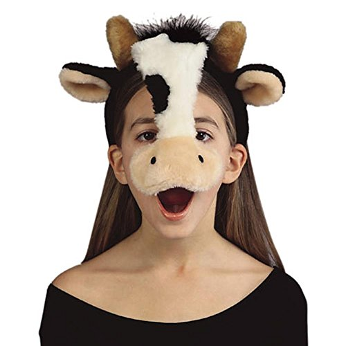 Child's Cow Plush Animal Headpiece (Cow Costume For Kids)