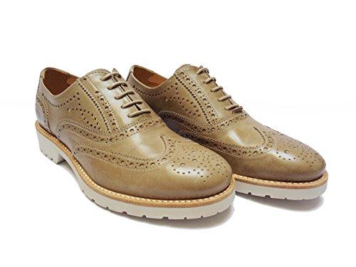Zapatos cordones mujer T de beige Giardini de Nero Piel para t5PqTnWg