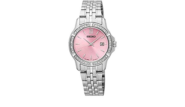 Amazon.com: Seiko Ladies Watch Casual Analog Casual Quartz Watch SUR739P1: Watches