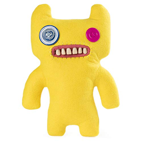 """Spin Master Fuggler Funny Ugly Monster Deluxe Stuffed Animal Medium 9"""" Plush (Indecisive Monster, Yellow)"""