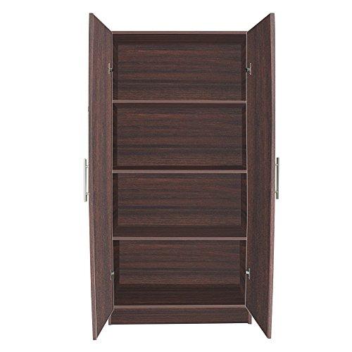 Amazon Com Interiorca 32 Tall Storage Cabinet Walnut Home Improvement