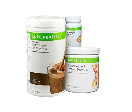 Herbalife F 1 Chocolate F 3 Protein Powder And Afresh Lemon - 500 Gm by Herbalife
