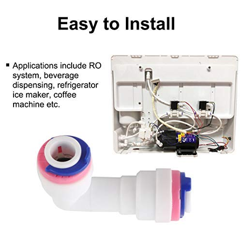 3//8 Inch OD Elbow Quick Connection Water purifiers Pipe Assembly Push in Connectors Water Hose Gasket for RO Reverse Osmosis System