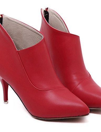 red Botas cn40 gray Stiletto Semicuero Tacón us8 us8 uk6 uk6 eu39 gray 5 Zapatos Gris 5 de Tacones Puntiagudos us8 Rojo mujer eu39 cn40 Vestido 5 eu39 uk6 5 cn40 5 XZZ Negro 5 wRpx0HI