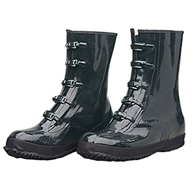 Liberty DuraWear Rubber Fabric Lined Protective Arctic Men's Boot with 5 Buckles, Size 15, Black: Industrial & Scientific