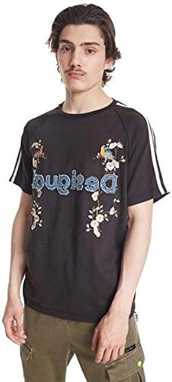 Desigual Camiseta Malcom Negra para Hombre L Negro: Amazon.es: Ropa y accesorios